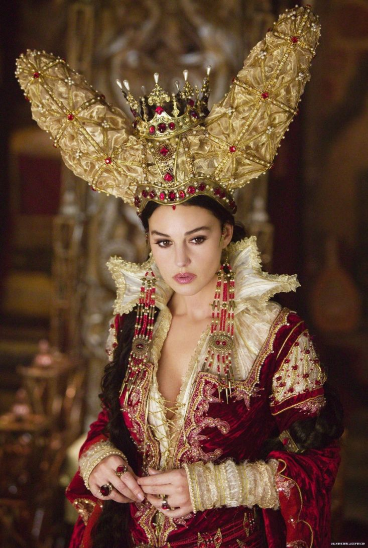 Monica Bellucci, as the Mirror Queen in The Brothers Grimm. She used black magic to gain eternal life. The drawn back was that she didn't have eternal youth.