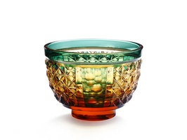 traditional glass tableware from Kagoshima in Japan 薩摩切子 盃[星屑]