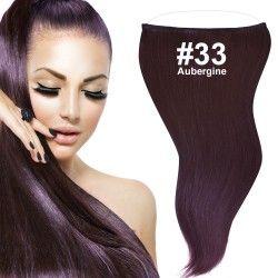 flip in extensions,aubergine,#33,50cm,haarverlängerung selber machen
