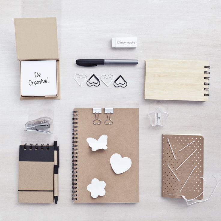 Colección de papelería de muy mucho #kraft #papelería