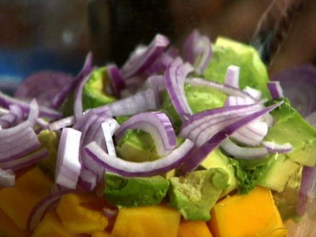 Mango Avocado Salad (goes well with Carribean food)