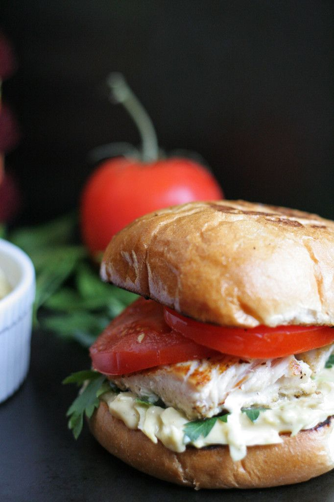 Fish Sandwich with Sabra Hummus Slaw ::notjustbaked:: Healthy, quick, and tasty grilled fish for any day if the week.