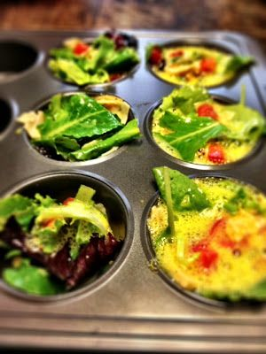 eggs in a muffin pan. brilliant