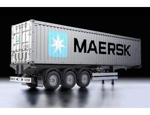 The Tamiya 40 Foot Container and Semi Trailer is the latest addition in 1/14 scale to the Tamiya Trucks and Trailers range.