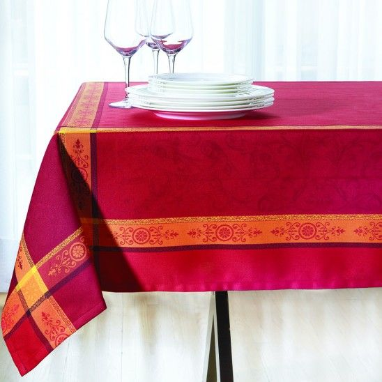 Jacquard Red Tablecloth Collection