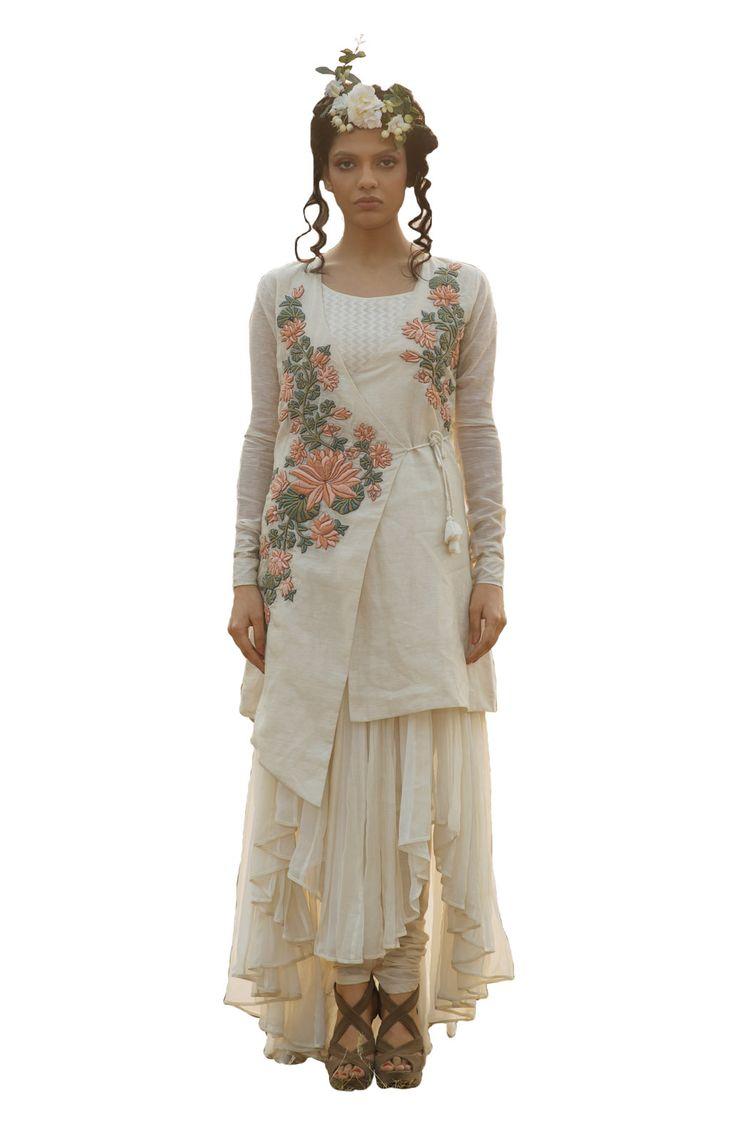 Top Designer wear by EKRU Buy now at Stylearrest com  white  flower. 101 best Apparel images on Pinterest   Designer collection  Indian