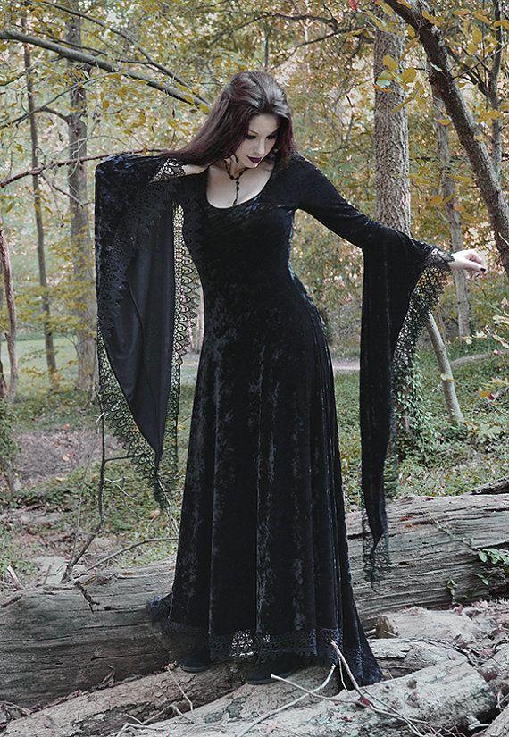 130a7c2d4c587 Sorrena Fairy Tale Vampire Romantic Gothic Velvet Dress Handmade Bespoke -  Dark Romantic Couture by Rose Mortem