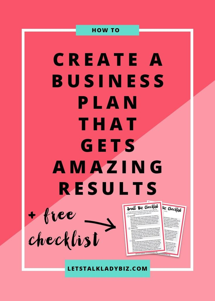 How to create a business plan that gets amazing results << Lets Talk Lady…