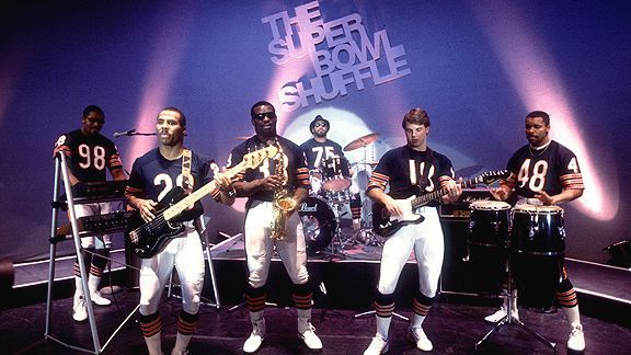 It's National One Hit Wonder Day!  Chicago bears and the Superbowl Shuffle, 1985, tops the list!   [Google Image Result for http://a.espncdn.com/photo/2010/0115/pg2_g_sbshuffle1_576.jpg]