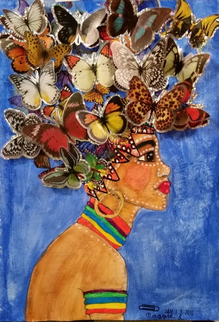 African Butterfly Girl