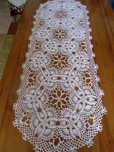 Салфетка крючком - работа Натаня вязание и схемы вязания