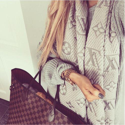 Louis Vuitton {love the scarf}