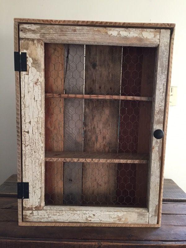 Rustic medicine cabinet