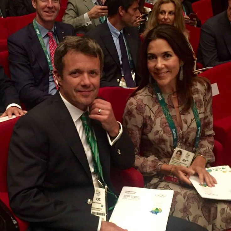 Frederik and Mary, August 2 2016 in Rio de Janeiro where they attended in the Opening Ceremony of the 129th IOC Session #crownprincefrederik #crownprincessmary