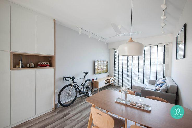 simple, clean minimalist interior