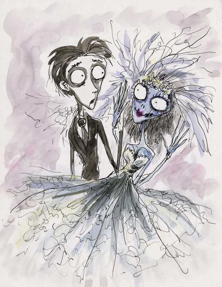 Image result for tim burton art cartoons pinterest