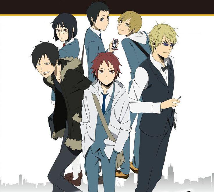 Izaya Orihara, Anri Sanohara, Mikado Ryuugamine, Masaomi Kida, Shizuo Heiwajima and Yoshimune Miyoshi - 3way Standoff -Allay- videogame cover psp