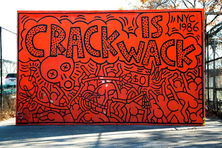 Best 25 keith haring art ideas on pinterest keith for Crack is wack mural
