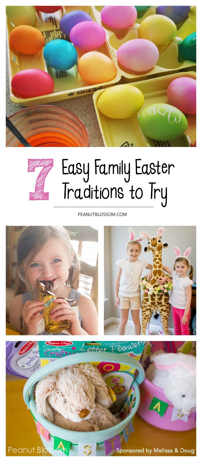 7 easy family Easter traditions to try with your kids this year. Love these sweet and simple Easter ideas. What a great way to make the holiday memorable for the kids.