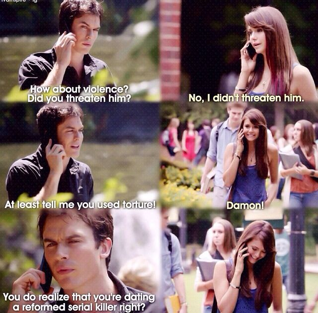 damon and elena first start dating