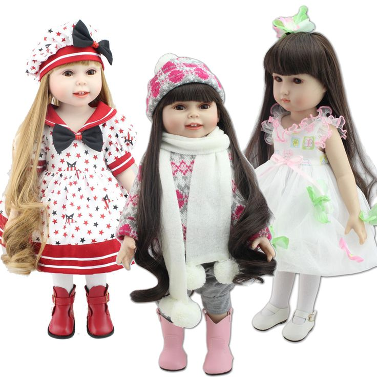 Find More Dolls Information about 18 inch Handmade Realistic Toys Full Vinyl American Girl Doll Fashion Reborn Baby Chilldren Birthday Gift Dolls Blonde,High Quality doll jokes,China doll gift Suppliers, Cheap doll magnet from Hobby Toys on Aliexpress.com