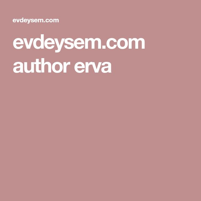 evdeysem.com author erva