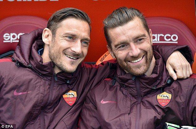 Francesco Totti As Roma 10 Italia Série a avec De Sanctis