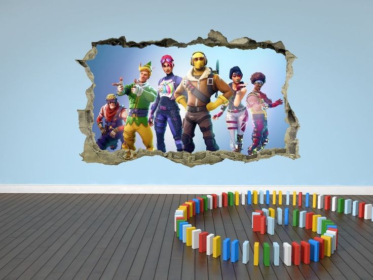 Best Fortnite Wall Sticker 3D Kids Cracked Smashed Decal Home 400 x 300