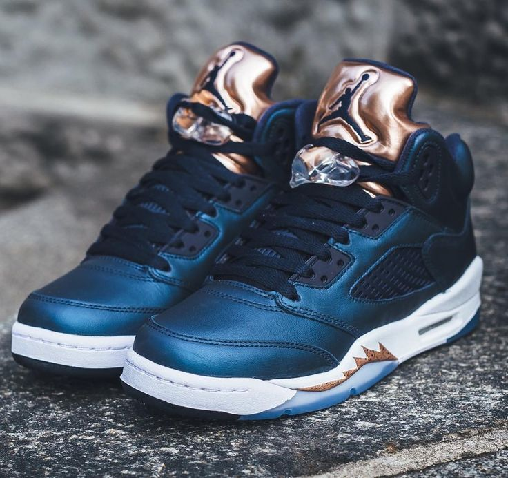 Air Jordan 5 Retro - Obsidian/White-Metallic Red Bronze RELEASE: Saturday  24th