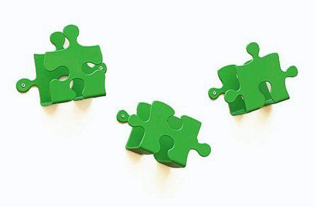 Wieszak - Laskowscy Design - Puzzle zielony