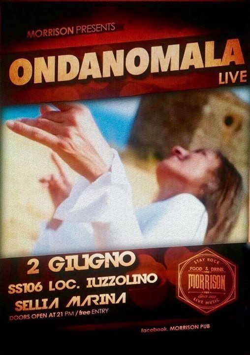 """il rock mediterranel di ONDANOMALA al Morrison di Sellia Marina, free entry! OndAnomala"""" è il progetto musicale di Mimmo Crudo, bassista e colonna portante del miglior periodo de """"Il Parto delle Nuvole Pesanti"""" e Francesca Salerno in arte Lady U. Pur continuando la collaborazione con il """"Parto"""", Mimmo Crudo chiama la poetessa e cantante """"Lady U"""" e Checco Salerno, riprendendo il sodalizio artistico!   Nasce così """"OndAnomala"""", fra ricerca d'identità, voglia di raccontarsi e il desiderio di…"""