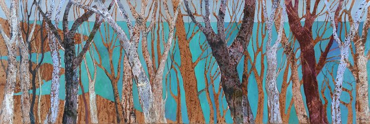 Jenny Grevatte - Sea through the Trees  http://www.goldmarkart.com/all-art/all-artists/jenny-grevatte/sea-through-the-trees.html