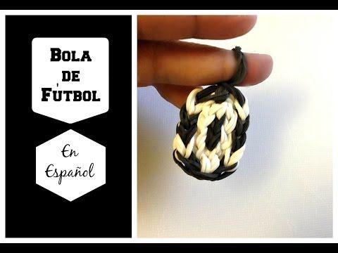 Rainbow Loom en ESPAñOL - Bola de Fútbol  -  Pulsera de Gomita DIY