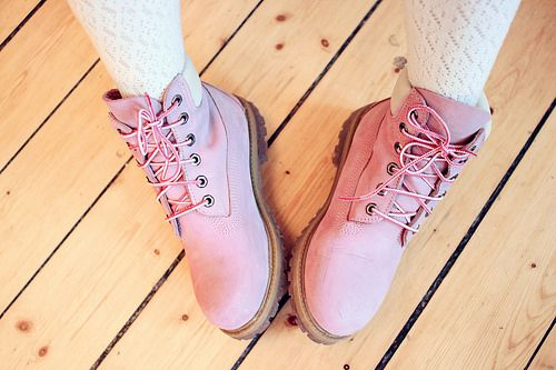 pink timberland boots.