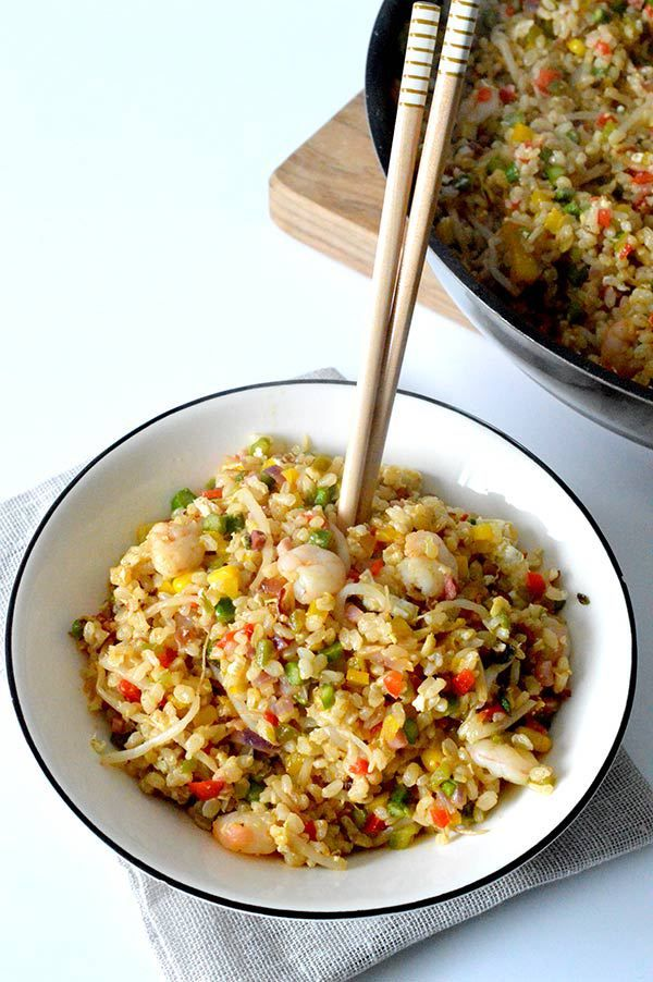 ARROZ INTEGRAL SALTEADO CON VERDURAS Y GAMBAS - ALL YOUR SITES