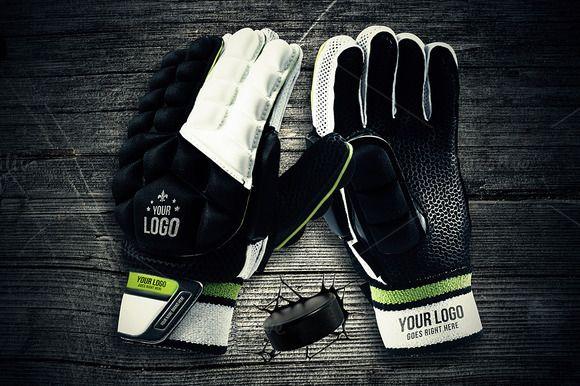 Hockey Gloves - Mockup by VectorMedia on @creativemarket