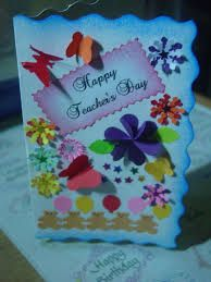 handmade greeting cards designs for teachers day - Google Search