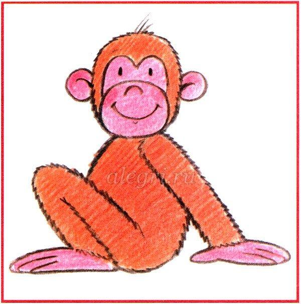 Рисование обезьяны пошагово