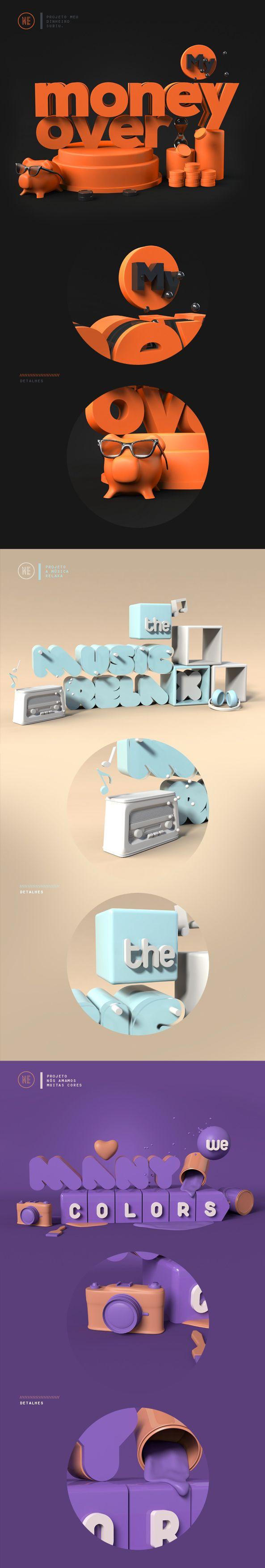3D Modo All Types by Fabiano Feliciano, via Behance