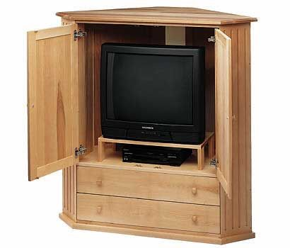 corner tv cabinet handcrafted to order in vermont in 1 standard sizes each in 6 sustainable solid hardwoods chosen for beauty and strength