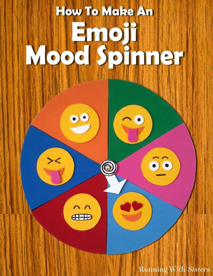 Make An Emoji Mood Spinner | Fun crafts, Tween and Pies
