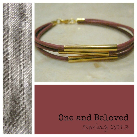 Unique Handmade LilacRed Leather Bracelet by OneandBeloved on Etsy, €5.00