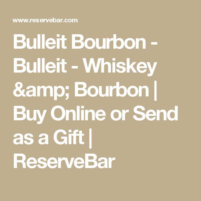 Bulleit Bourbon - Bulleit - Whiskey & Bourbon  | Buy Online or Send as a Gift | ReserveBar