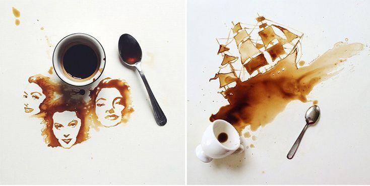 Sztuka z kawy