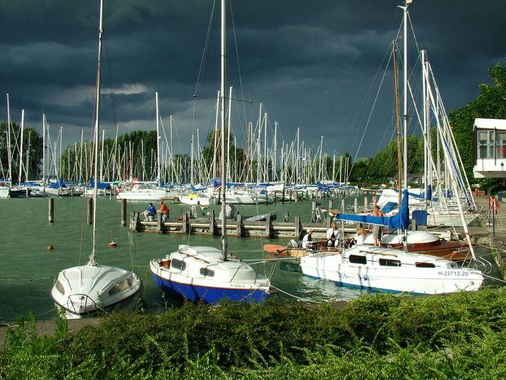 Balatonlelle is a popular tourist town on the southern shore of Lake Balaton