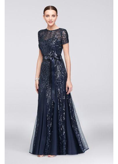 d4430c5957 Long Mermaid  Trumpet Short Sleeves Formal Dresses Dress - RM Richards