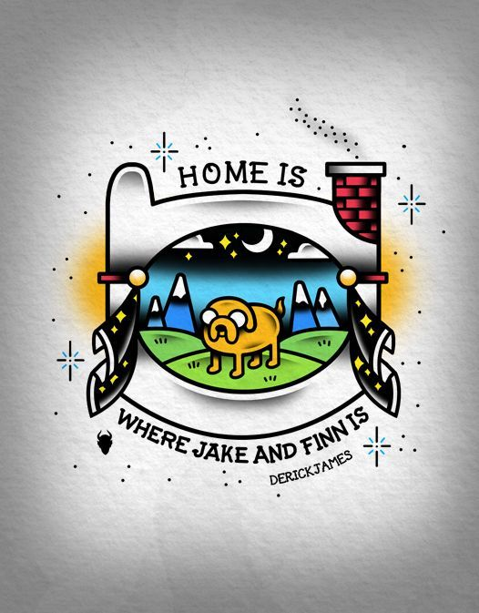 Home Is Where Jake And Finn Is. Adventure Time.