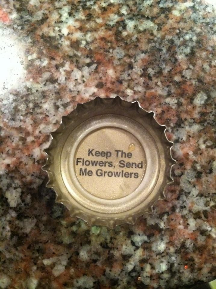 "Keep the Flowers, Send Me Growlers www.LiquorList.com ""The Marketplace for Adults with Taste!"" @LiquorListcom   #LiquorList.com"