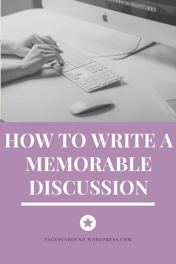 Write about Something You Care About Possibly the best thing you can do for your discussion post is being passionate about it. Write about something that really interests you, and ask your readers…