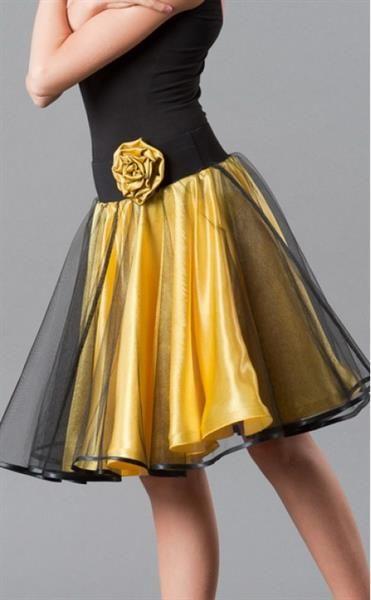 Танцевальная тренировочная юбка из сетки